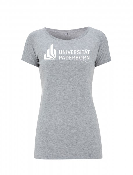 Damen T-Shirt melange-grey