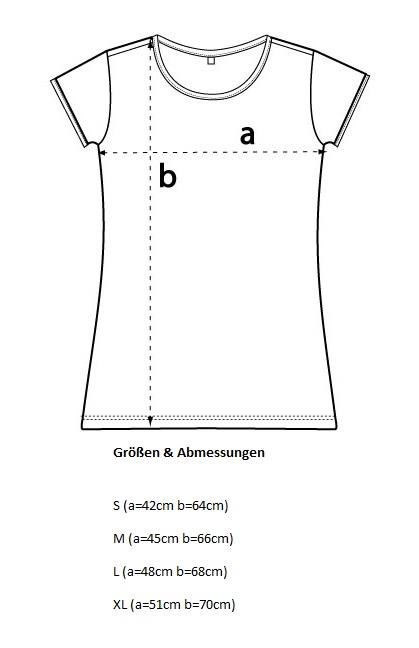 Damen-T-Shirt-Masstabelle