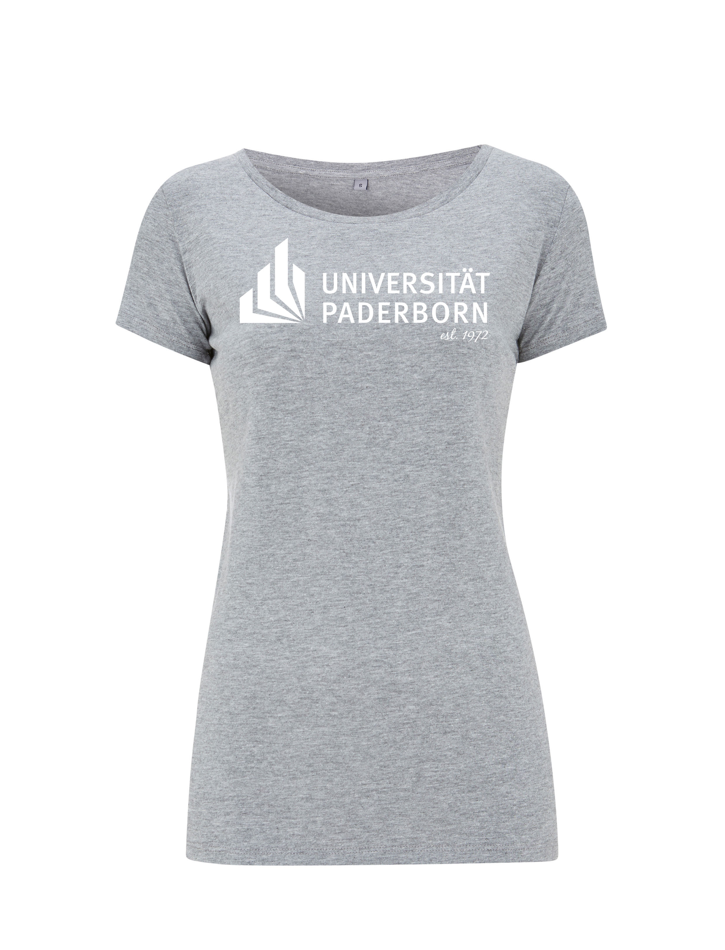 Damen T Shirt Melange Grey