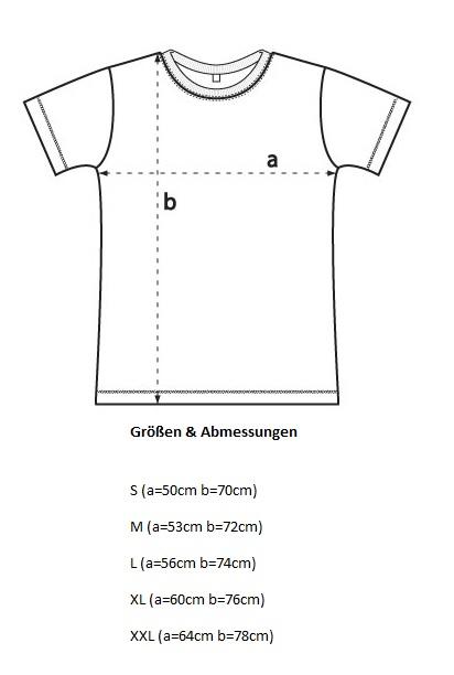 Herren-T-Shirt-Masstabelle