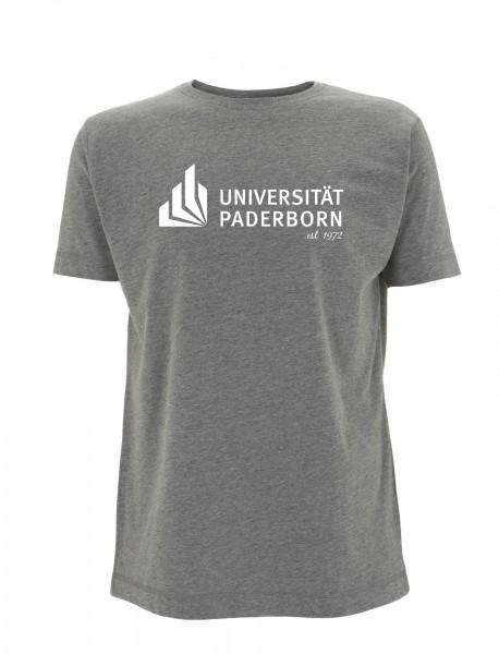 Herren T-Shirt melange-grey